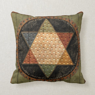 Antique Chinese Checkers Board Throw Pillow