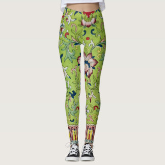 Antique Chinese Design on Leggings