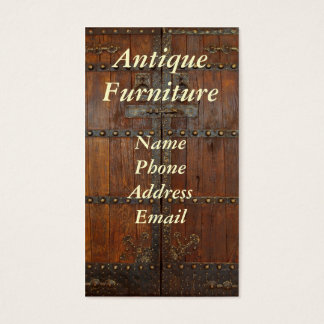 Antique Chinese Wardrobe with Brass Fittings Business Card
