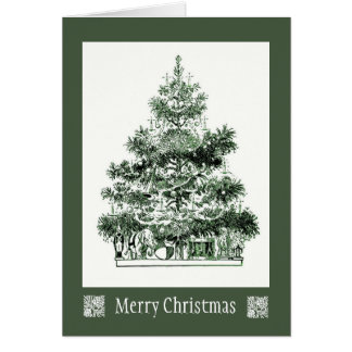 Antique Christmas Tree Card