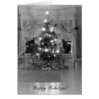 Antique Christmas Tree Card