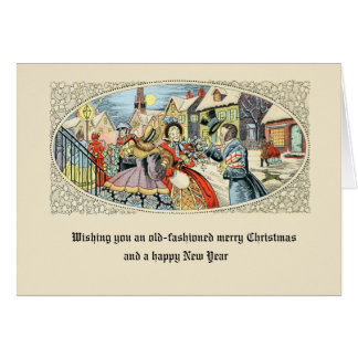 Antique Christmas Vintage Happy New Year Holiday Card