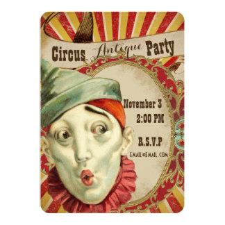 Antique Circus Theme Party Invitation