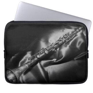 Antique clarinet still life, B&W Laptop Sleeve