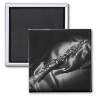 Antique clarinet still life, B&W Magnet