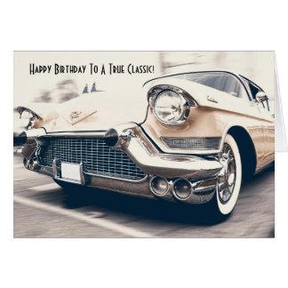 Antique Classic Car Fan Birthday Card