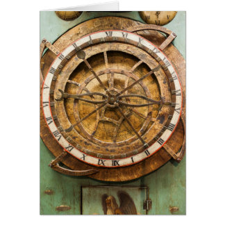 Antique clock face, Germany Card