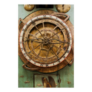 Antique clock face, Germany Poster