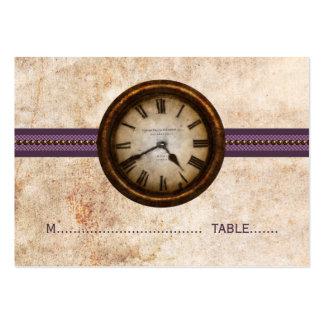 Antique Clock Place Card, Purple Business Cards