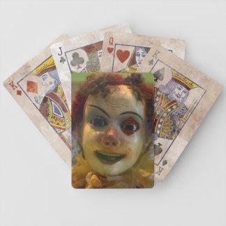 antique clown poker deck