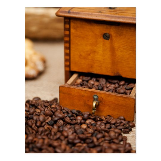 Antique Coffee Bin/Grinder Postcard