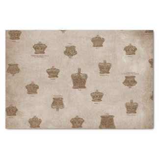 Antique collection of Royal Crowns Tissue Paper