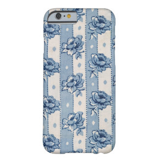 Antique Colonial Blue and Ivory Floral Pattern Barely There iPhone 6 Case