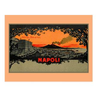 Antique colour litho Hotel Bristol Naples Napoli Postcard
