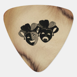 Antique Comedy and Tragedy Theater Masks Jester Guitar Pick