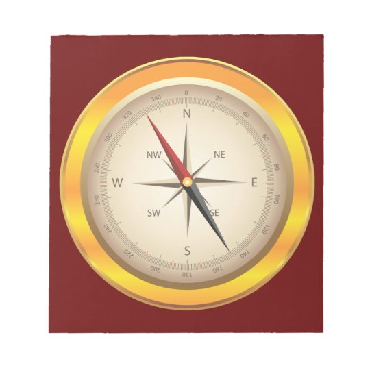 Antique compass notepad
