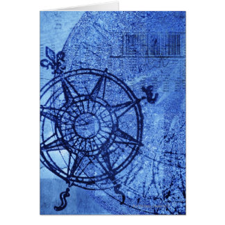 Antique compass rose card