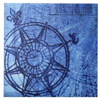 Antique compass rose ceramic tiles