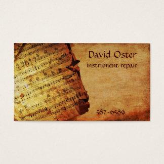 Antique Composition Business Card