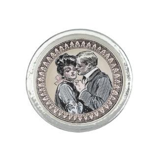 Antique Couple Romance Wedding Vintage Love Rings