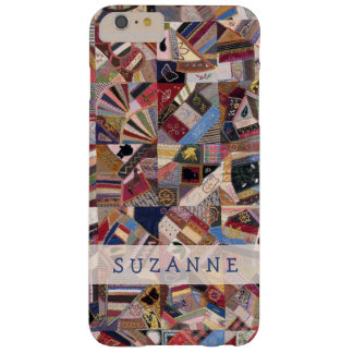 Antique Crazy Quilt Patchwork Barely There iPhone 6 Plus Case