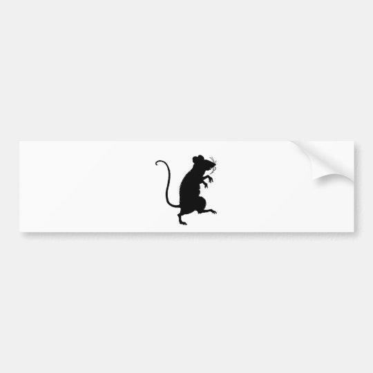 Antique Critter Mouse Silhouette Bumper Sticker