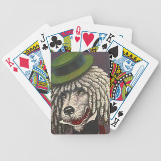 Antique Dapper Poodle Top Hat Poker Playing Cards