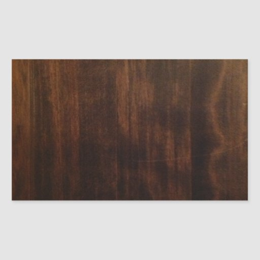 Antique Dark Wood Design Rectangular Sticker