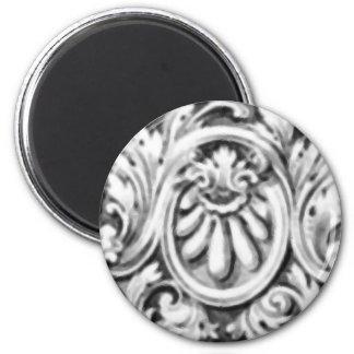 Antique Decorative Flourishes 2 Inch Round Magnet