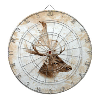 Antique Deer Print 5 Dartboard