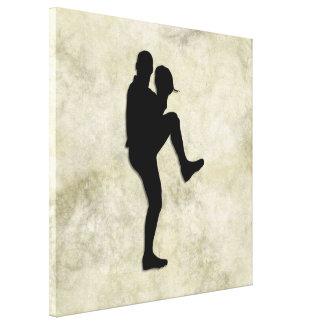 Antique Design Baseball Player Pitcher Canvas Print