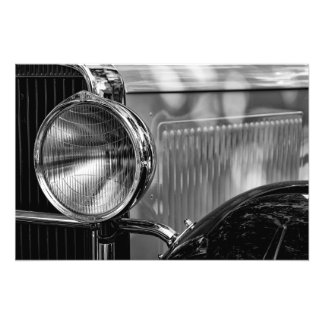 Antique Detail - In Black And White Photo Print