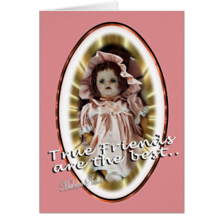 Antique Doll- Patty- personalize as you wish Card