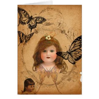 Antique Dolls Birthday Card