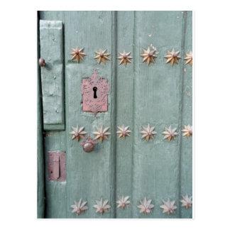 Antique door postcard