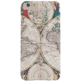Antique Double-Hemisphere World Map Barely There iPhone 6 Plus Case
