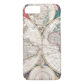 Antique Double-Hemisphere World Map iPhone 8/7 Case