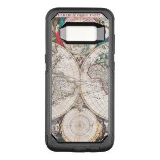 Antique Double-Hemisphere World Map OtterBox Commuter Samsung Galaxy S8 Case