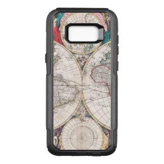 Antique Double-Hemisphere World Map OtterBox Commuter Samsung Galaxy S8+ Case