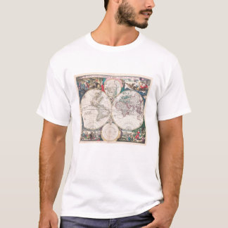 Antique Double-Hemisphere World Map T-Shirt