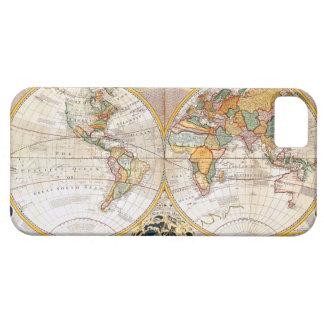 Antique Dual Hemisphere World Map iPhone 5 Cover