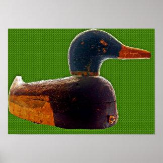 Antique duck decoy poster