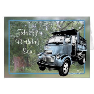 Antique Dump Truck-customize any occasion Card