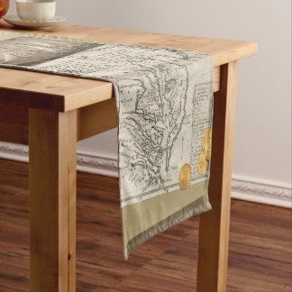 Antique East Coast Map Short Table Runner