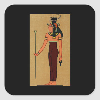 Antique Egyptian Goddess Serqet Square Sticker