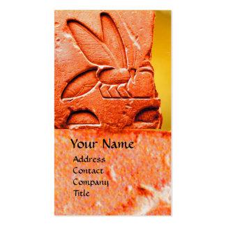 ANTIQUE EGYPTIAN HONEY BEE BEEKEEPER WAX SEAL BUSINESS CARD