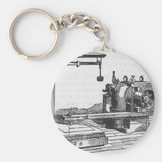 Antique Engineering Tool Vintage Ephemera Keychain