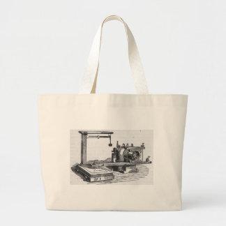 Antique Engineering Tool Vintage Ephemera Large Tote Bag