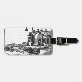 Antique Engineering Tool Vintage Ephemera Luggage Tag