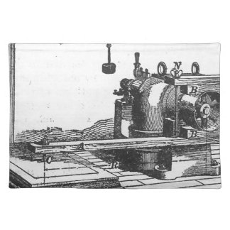 Antique Engineering Tool Vintage Ephemera Placemat